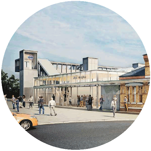 Artist's impression of a Crossrail station