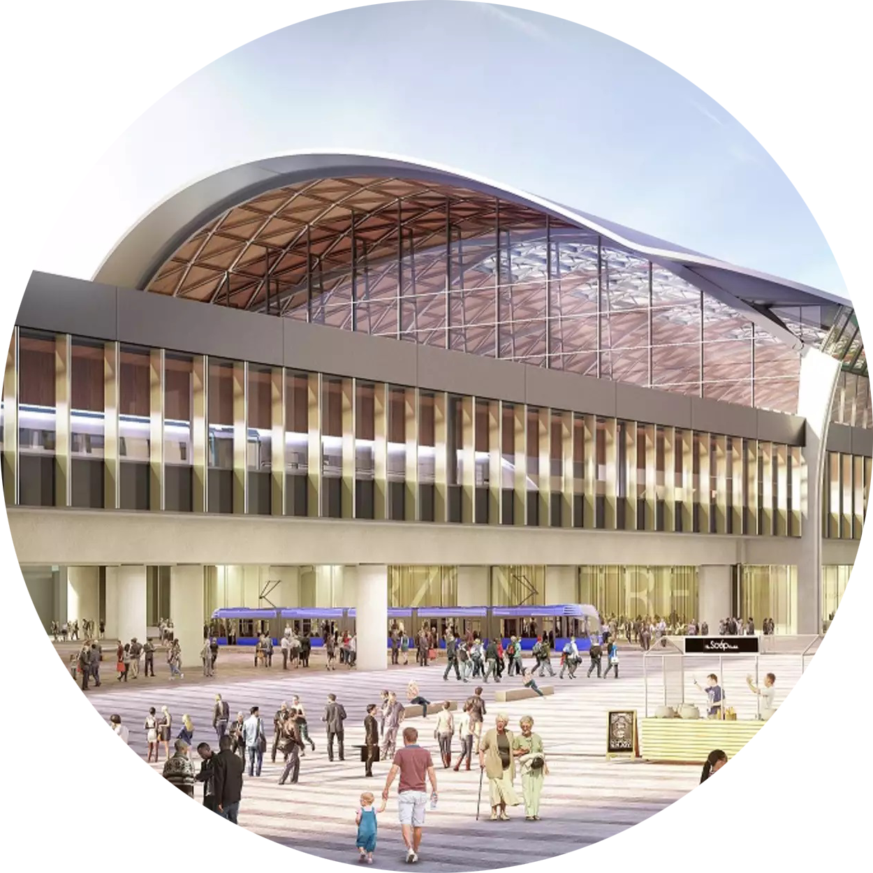 Artist's impression of High Speed 2's Curzon Street railway station in Birmingham