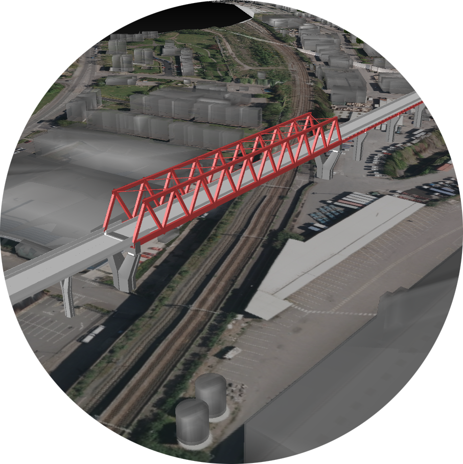 Artist's impression of a bridge at High Speed 2's Curzon Street railway station in Birmingham